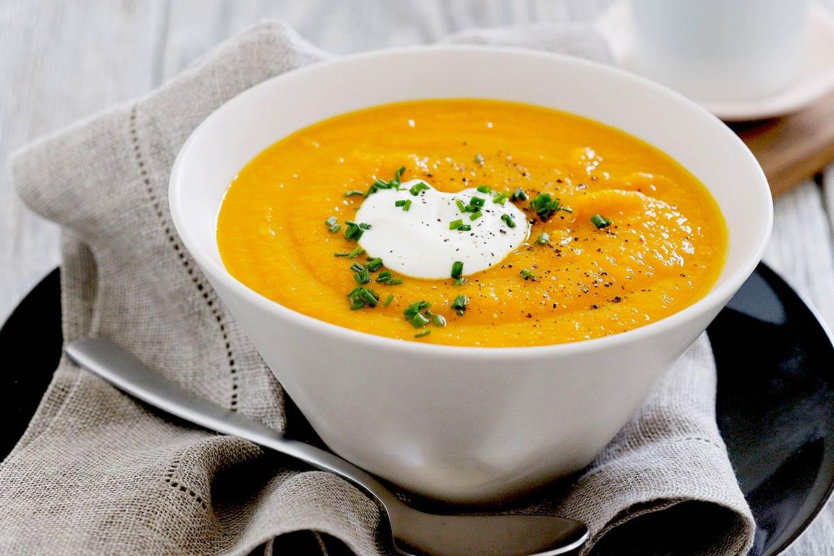 Supa de morcovi cu ghimbir si smantana